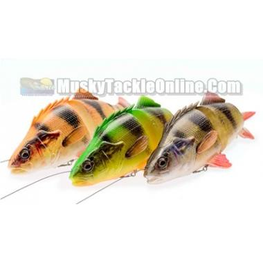 "Savage Gear Pre-Rigged 6.75"" 4D Yellow Perch"