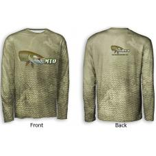 ScaleWear/MTO Long Sleeve Green Camo Fishing Shirt