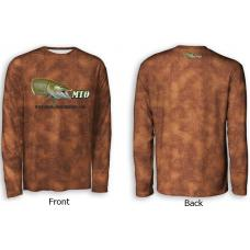 ScaleWear/MTO Long Sleeve Bronze Fishing Shirt