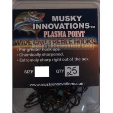 Musky Innovations Plasma Point Treble Hook - 3/0 - 25 pack