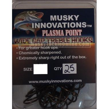 Musky Innovations Plasma Point Treble Hook - 5/0 - 25 pack
