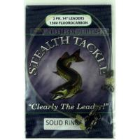 Stealth Tackle Fluorocarbon Leaders w/ Solid Welded Ring - 130 lb - 2 Pack