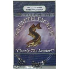 Stealth Tackle Fluorocarbon Leaders - 80 lb - 2 Pack